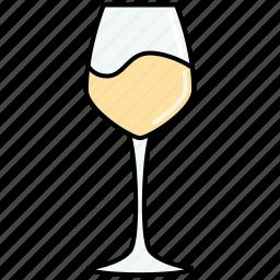 chablis, dinner, drink, glass, sauvignon, white, wine icon