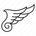 wing, feather, fly, hawk, angel