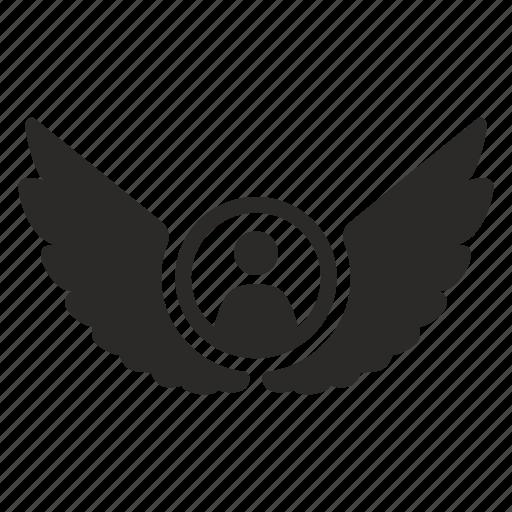 account, angel, avatar, god, status, wings icon