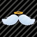 christmas, halo, heart, wedding, wings icon