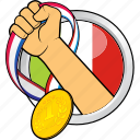 champion, flag, italy, sport, sport event, winner, winning icon