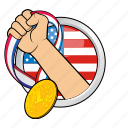 america, champion, flag, sport, sport event, winner, winning icon