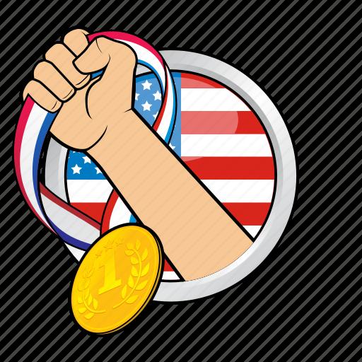 america, champion, flag, sport, sport event, winner, winning icon