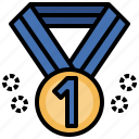 1st, award, certification, medal, prize, winner, winning icon