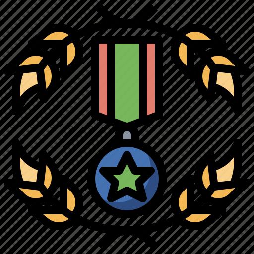 best, emblem, first, medal, prize, sports, winner icon