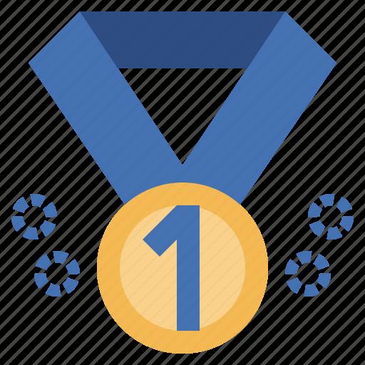 1st, award, certification, medal, prize, winner, winning icon