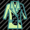 coat, garment, jacket, overcoat, raincoat icon
