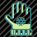 cloth, glove, hand, protect, winter icon