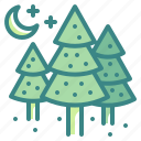 christmas, forest, pine, tree, xmas icon