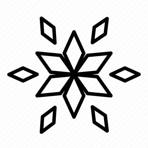 Christmas, decoration, snow, snowflake, winter icon - Download on Iconfinder