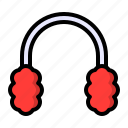 ear, earmuffs, earphone, headphone, muffs, winter icon