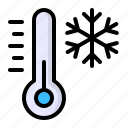 cold, snow, snowflake, temperature, thermometer, weather, winter icon