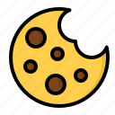 biscuit, chips, cookie, food icon