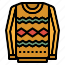 clothing, fashion, shirt, sweater, winter icon