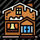 buildings, home, house, snow