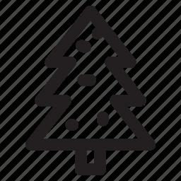 christmas, fruit, pine, snow, tree, winter icon