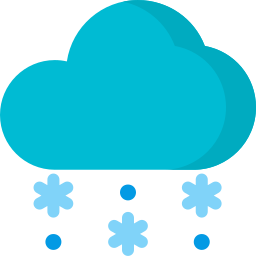 christmas, cloud, rain, snowing, weather, winter icon