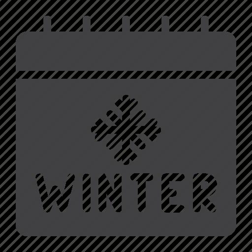 calendar, holiday, season, winter icon