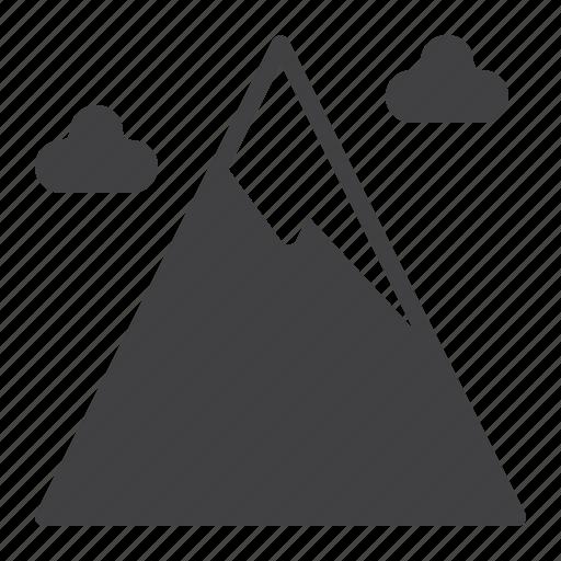 mountain, peak, snow icon