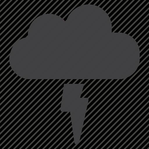 cloud, flash, lightning, thunderstorm icon