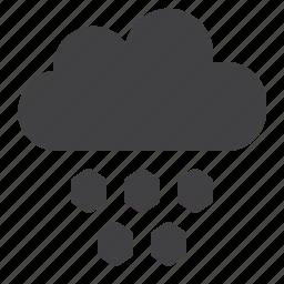cloud, hail, hailstone icon