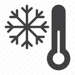 cold, snowflake, thermometer icon