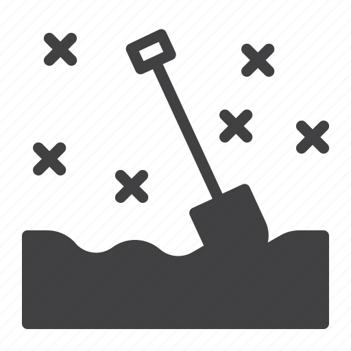 shovel, snow, spade, winter icon