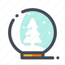 ball, christmas, snow, snowflake, tree, winter, xmas icon