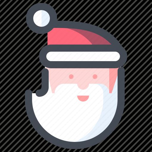 christmas, holiday, new year, santa, santa claus, vacation, winter icon