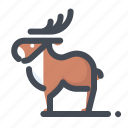 christmas, deer, holiday, new year, vacation, winter, xmas icon