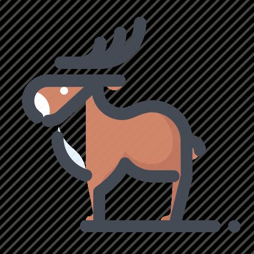 christmas, deer, holiday, new year, vacation, winter, xmas icon