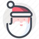 christmas, holiday, new year, santa, santa claus, vacation, winter icon