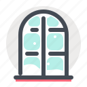 celebration, christmas, home, snow, window, winter, xmas icon