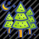 christmas, forest, pine, tree, xmas icon