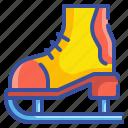 hobby, roller, skates, sports icon