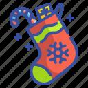 christmas, gifts, presents, socks, xmas icon