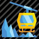 cabin, cable, car, ski, transportation icon