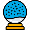 christmas, december, holidays, snowglobe, winter icon