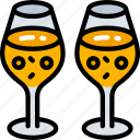 champagne, december, drinks, holidays, winter icon