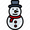 christmas, december, holidays, snowman, winter icon