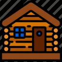 cabin, december, holidays, lodge, log, winter