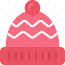 bobble, clothing, december, hat, holidays, winter icon