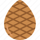 cone, december, holidays, pine, tree, winter icon