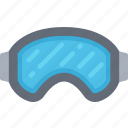 december, goggles, holidays, ski, skiing, winter icon