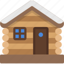 cabin, december, holidays, lodge, log, winter icon
