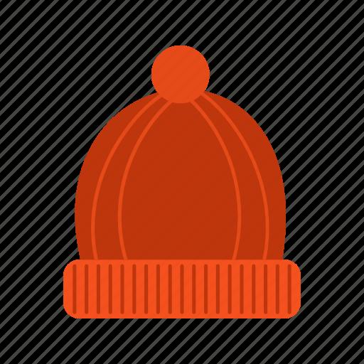 cap, hat, knit, warm, winter, wool, woolen icon