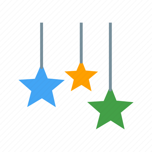 christmas, festive, hanging, holiday, red, star, stars icon