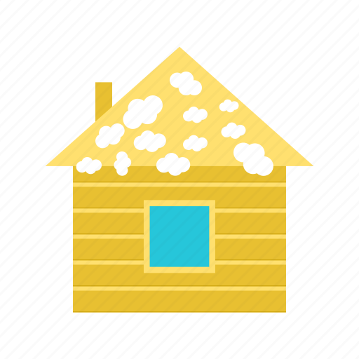 christmas, house, night, roof, snow, window, winter icon