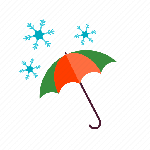 christmas, cold, forest, snow, umbrella, white, winter icon