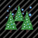 christmas, cold, pine, snow, tree, trees, winter